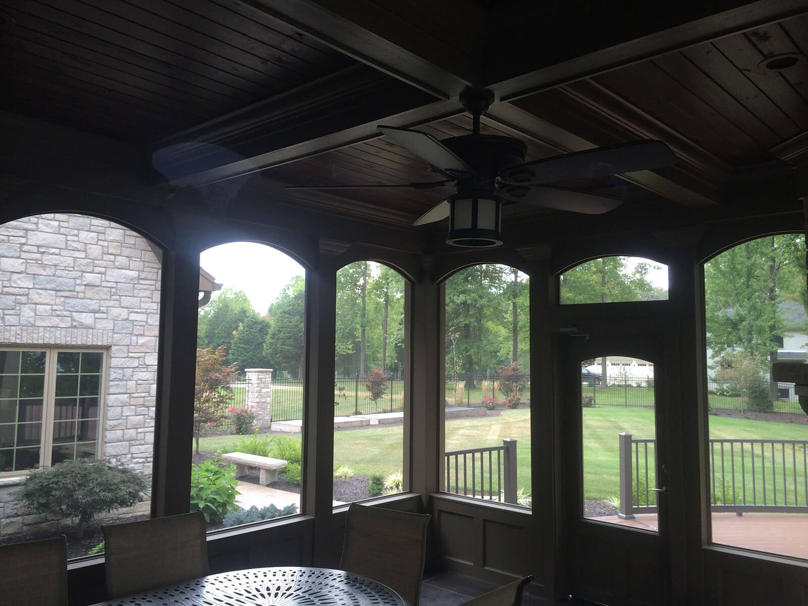 Carmel Indiana Home Construction - Screened-In-Porch Interior
