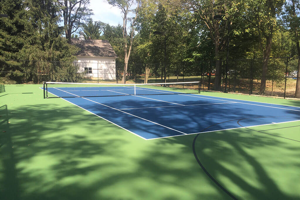 Ennis Custom Homes - Tennis Courts - Carmel, IN Custom Builders - Tennis Court Rebuild 1
