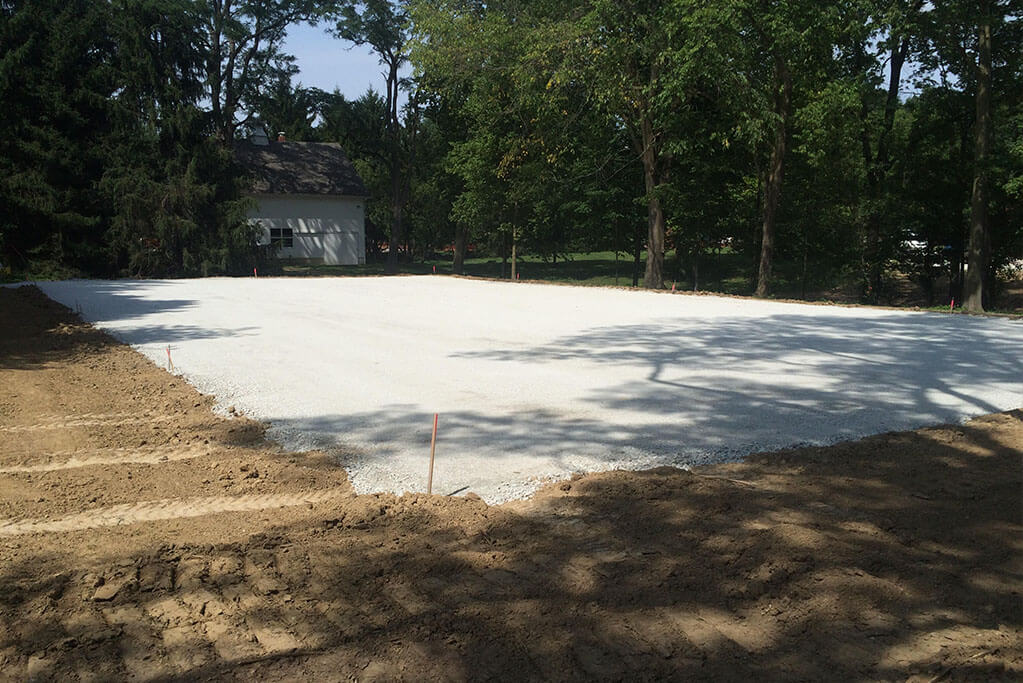 Ennis Custom Homes - Tennis Courts - Carmel, IN Luxury Residential Construction - Tennis Court Rebuild 2
