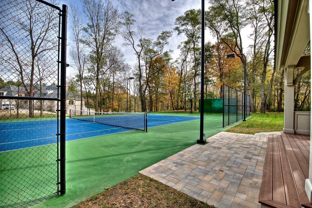 Ennis Custom Homes - Tennis Courts - Carmel, Indiana Custom Home Builders - Tennis Court 1