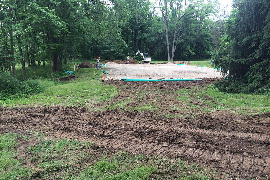 Ennis Custom Homes - Tennis Courts - Carmel, Indiana Luxury Residential Construction - Tennis Court Demolition 2