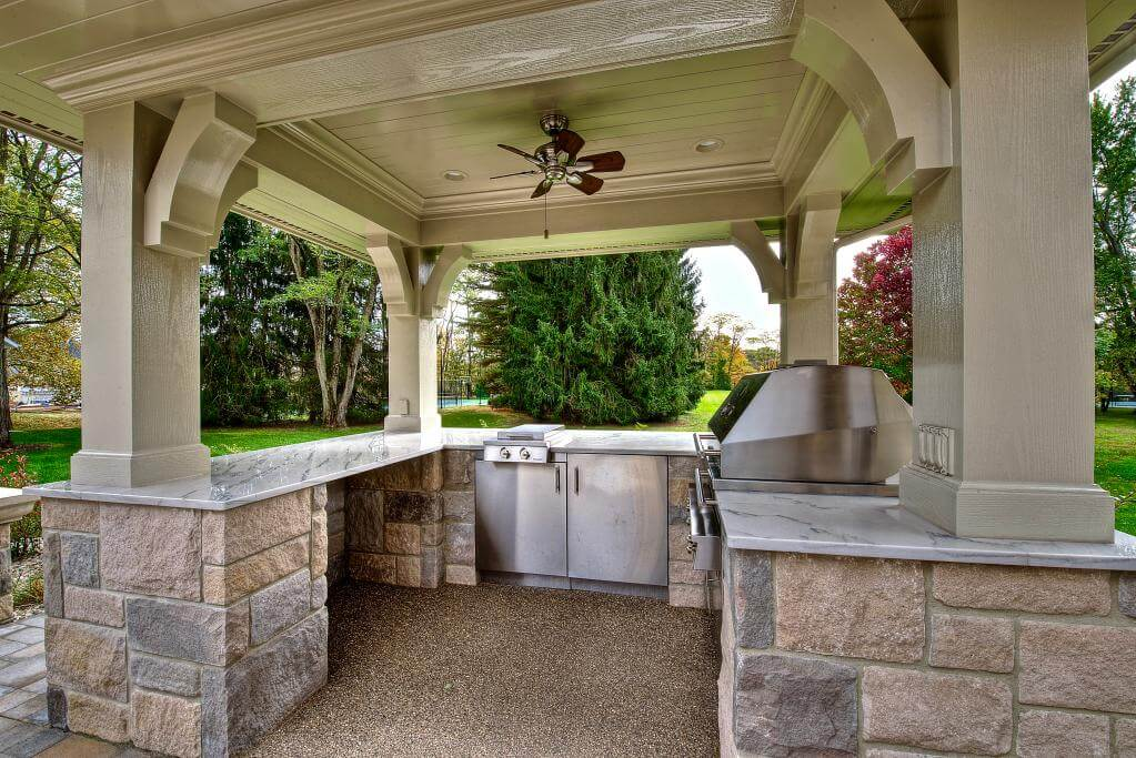 Luxury Home Construction Carmel, Indiana Guest Home Grill Area