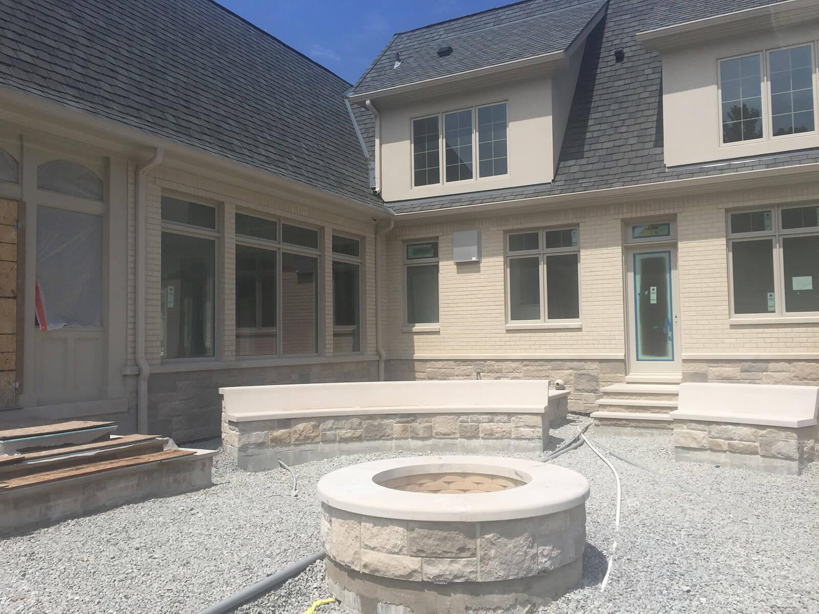 Indiana Custom Home Builder - mcconst Court Yard Firepit