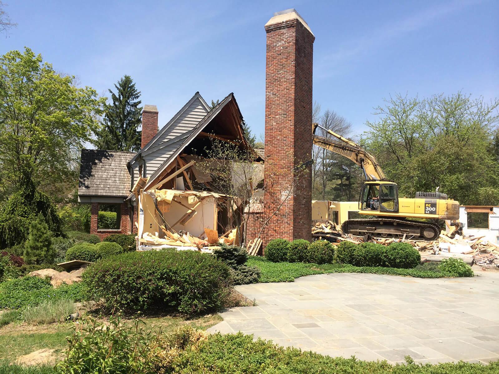 Ennis Custom Homes - Home Demolition - Home Builder in Carmel, IN - 116th st demo 2