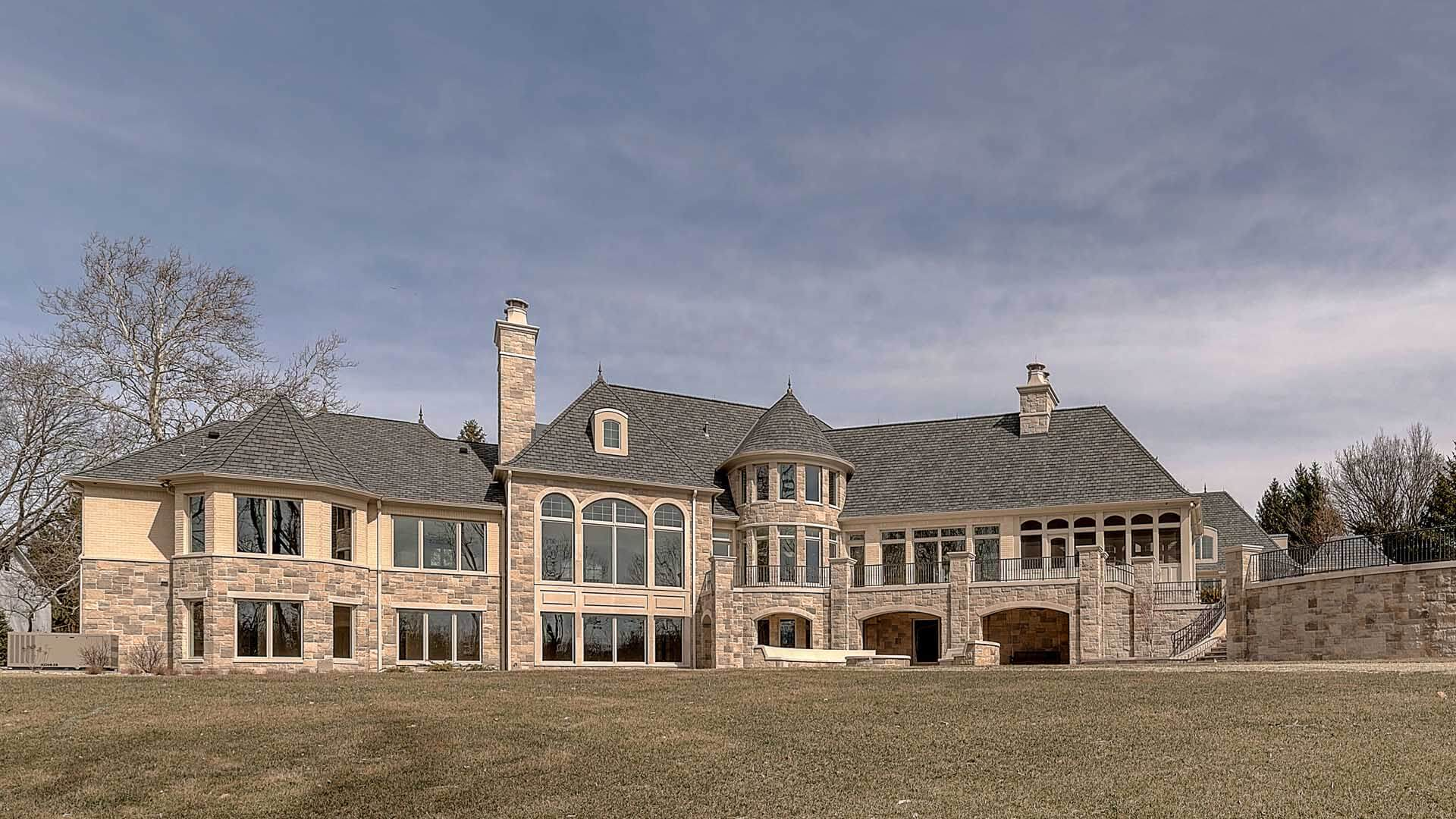 Ennis Custom Homes - Indiana Luxury Home Builder - Back View of Home Fairly Close