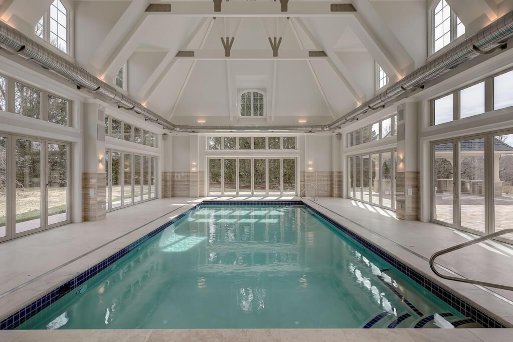 Ennis Custom Homes - Indoor Pool Wing - Exercise Room - Spa Shower - Carmel, Indiana Custom Builders - Indoor Pool