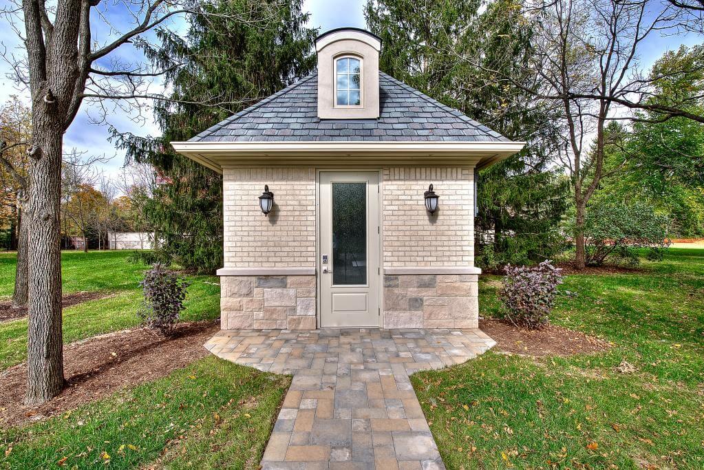 Ennis Custom Homes - Outdoor Facilities - Carmel, Indiana Custom Builder - Pool House Guest Home Bath House Exterior