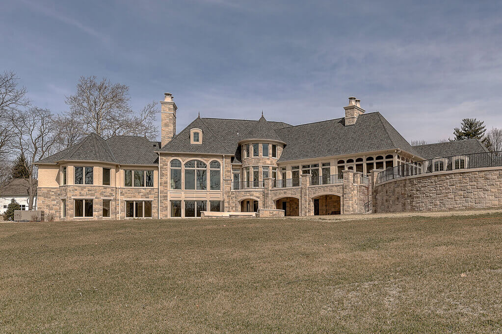 Ennis Custom Homes - Outdoor Home - Best Indianapolis Home Builder in Carmel, IN - Back View of Home Fairly Close