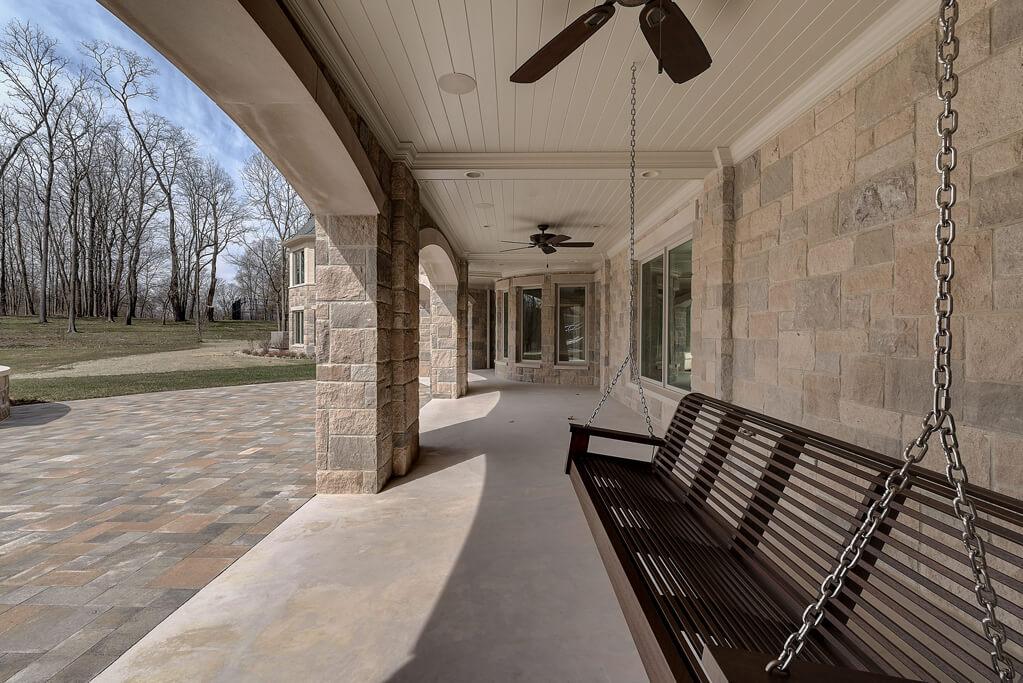 Ennis Custom Homes - Outdoor Living Spaces - Carmel, IN Custom Builders - Rear Covered Terrace