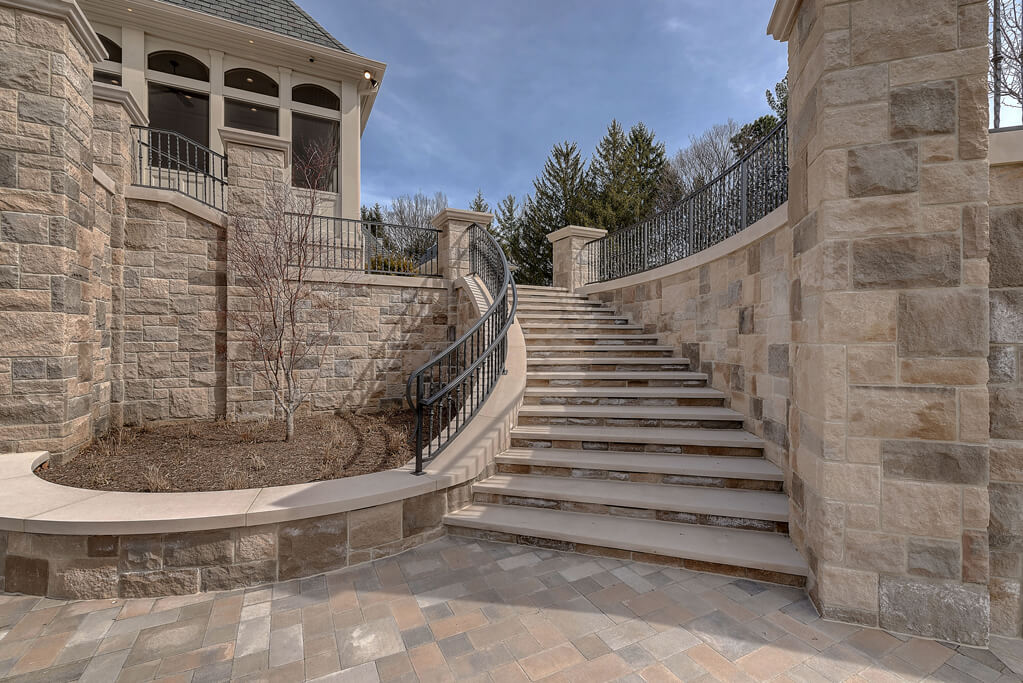 Ennis Custom Homes - Outdoor Living Spaces - Carmel, IN Luxury Home Builders - Rear Outdoor Staircase